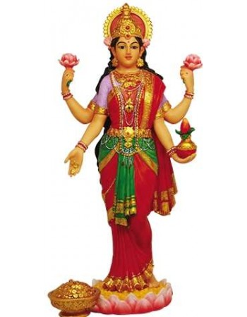 Lakshmi Hindu Goddess of Luck and Wealth Full Color Statue Mythic Decor  Dragon Statues, Angels & Demons, Myths & Legends |Statues & Home Decor