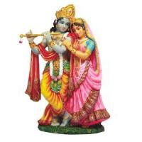 Krishna and Radha Hindu God Statue