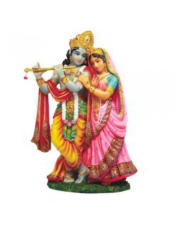 Krishna and Radha Hindu God Statue Mythic Decor  Dragon Statues, Angels & Demons, Myths & Legends |Statues & Home Decor