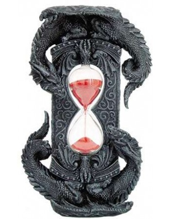 Double Dragon Gothic Sand Timer Mythic Decor  Dragon Statues, Angels & Demons, Myths & Legends |Statues & Home Decor