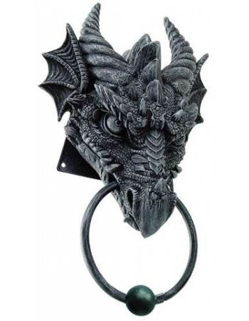 Dragon Head Door Knocker Mythic Decor  Dragon Statues, Angels, Myths & Legend Statues & Home Decor