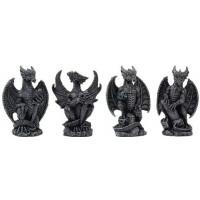 Mini Dragon Statue Set of 4