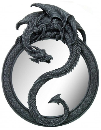 Dragon Ying Yang Wall Mirror Mythic Decor  Dragon Statues, Angels, Myths & Legend Statues & Home Decor