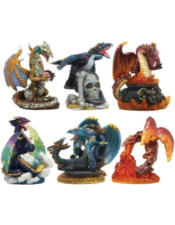 Dragons Set of 6 Small Statues Mythic Decor  Dragon Statues, Angels & Demons, Myths & Legends |Statues & Home Decor