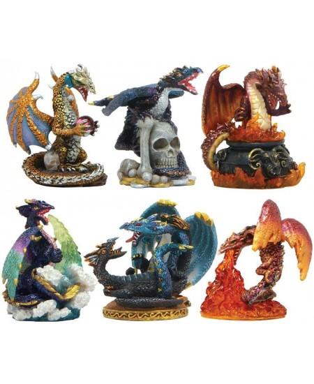 Dragons Set of 6 Small Statues at Mythic Decor,  Dragon Statues, Angels, Myths & Legend Statues & Home Decor
