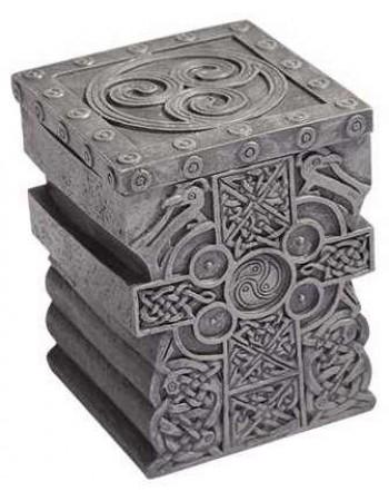 Celtic Cross Lift Top Trinket Box Mythic Decor  Dragon Statues, Angels & Demons, Myths & Legends |Statues & Home Decor