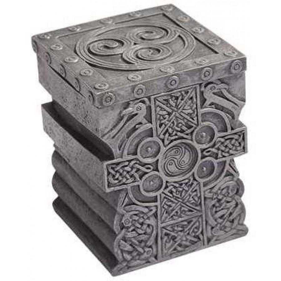 Celtic Cross Lift Top Trinket Box Celtic Design Home Decor