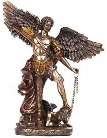 Archangel Michael Bronze Christian Statue Mythic Decor  Dragon Statues, Angels, Myths & Legend Statues & Home Decor