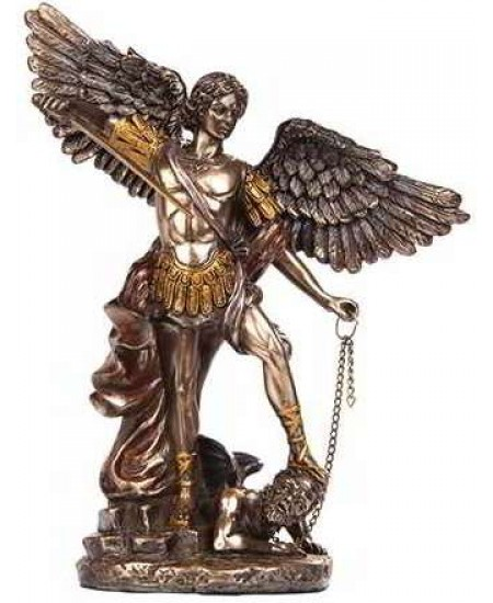 Archangel Michael Bronze Christian Statue at Mythic Decor,  Dragon Statues, Angels, Myths & Legend Statues & Home Decor