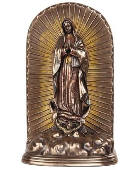 Our Lady of Guadalupe Bronze Memorial Urn at Mythic Decor,  Dragon Statues, Angels, Myths & Legend Statues & Home Decor