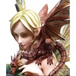 Forest Fairy with Baby Dragon Statue at Mythic Decor,  Dragon Statues, Angels, Myths & Legend Statues & Home Decor