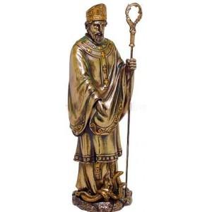 Saint Patrick Bronze Christian Statue Mythic Decor  Dragon Statues, Angels & Demons, Myths & Legends |Statues & Home Decor