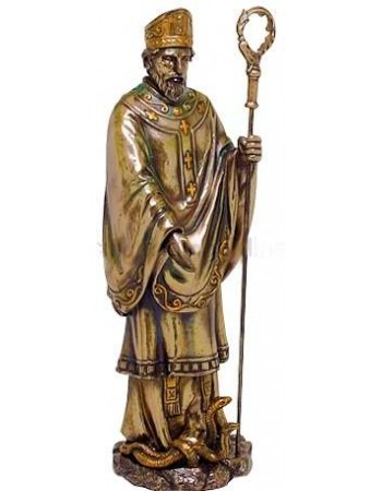 Saint Patrick Bronze Christian Statue Mythic Decor  Dragon Statues, Angels, Myths & Legend Statues & Home Decor