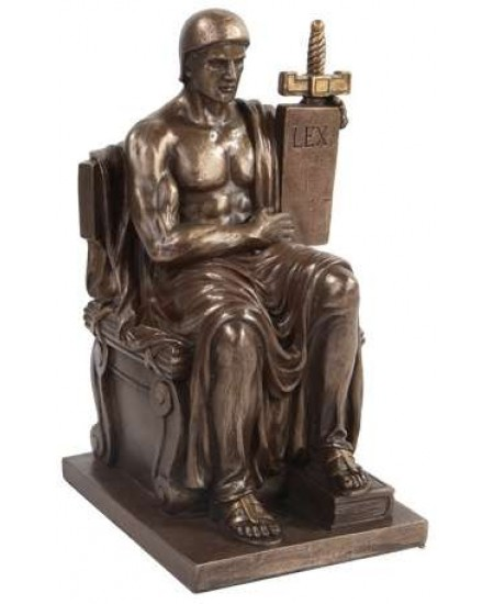 Authority of Law Bronze Resin Statue at Mythic Decor,  Dragon Statues, Angels, Myths & Legend Statues & Home Decor