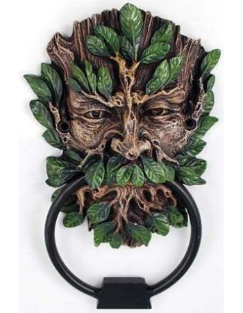 Greenman Forest God Door Knocker Mythic Decor  Dragon Statues, Angels, Myths & Legend Statues & Home Decor