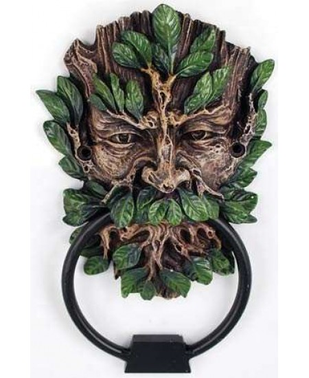 Greenman Forest God Door Knocker at Mythic Decor,  Dragon Statues, Angels & Demons, Myths & Legends |Statues & Home Decor
