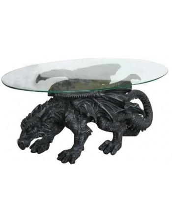 Shire Dragon Glass Topped Coffee Table Mythic Decor  Dragon Statues, Angels, Myths & Legend Statues & Home Decor
