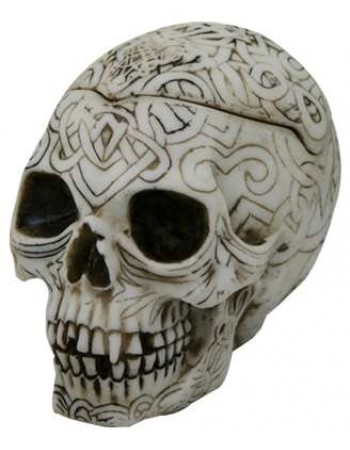 Celtic Skull Small Box Mythic Decor  Dragon Statues, Angels & Demons, Myths & Legends |Statues & Home Decor