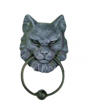 Gargoyle Cat Door Knocker Mythic Decor  Dragon Statues, Angels, Myths & Legend Statues & Home Decor