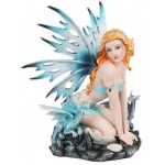 Blue Fairy with Dragonlings Statue at Mythic Decor,  Dragon Statues, Angels & Demons, Myths & Legends |Statues & Home Decor