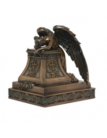 Mourning Angel Bronze Keepsake Memorial Urn Mythic Decor  Dragon Statues, Angels, Myths & Legend Statues & Home Decor