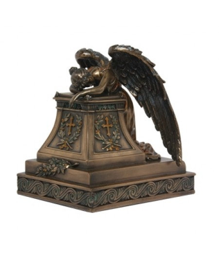 Mourning Angel Bronze Keepsake Memorial Urn at Mythic Decor,  Dragon Statues, Angels, Myths & Legend Statues & Home Decor