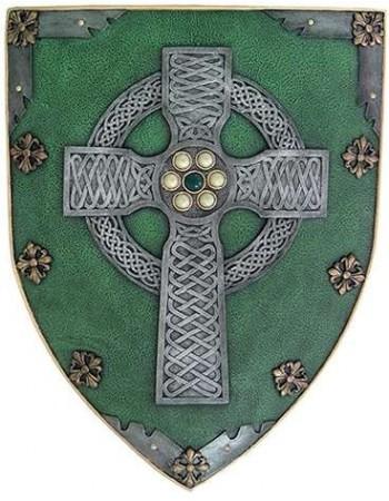 Celtic Warrior Shield Mythic Decor  Dragon Statues, Angels & Demons, Myths & Legends |Statues & Home Decor