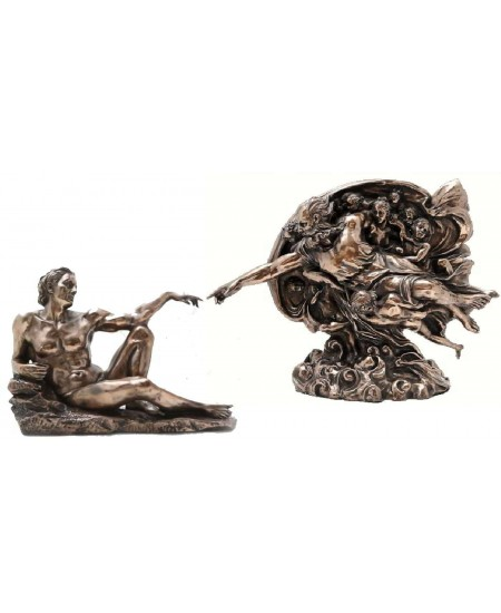 Creation of Man by Michelangelo Museum Replica Statue Set at Mythic Decor,  Dragon Statues, Angels, Myths & Legend Statues & Home Decor