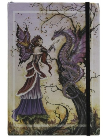 Dragon Charmer Embossed Fairy Journal Mythic Decor  Dragon Statues, Angels, Myths & Legend Statues & Home Decor