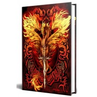 Dragon Flame Blade Embossed Journal