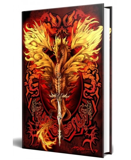 Dragon Flame Blade Embossed Journal at Mythic Decor,  Dragon Statues, Angels & Demons, Myths & Legends |Statues & Home Decor
