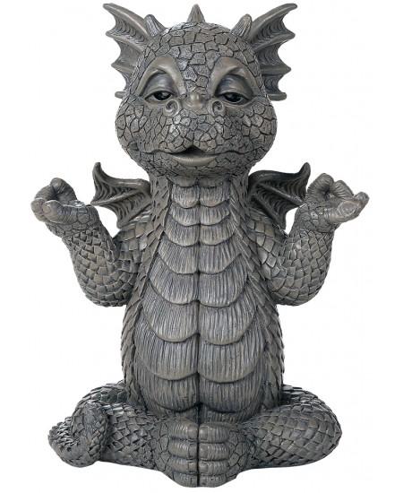Meditating Dragon Garden Statue at Mythic Decor,  Dragon Statues, Angels, Myths & Legend Statues & Home Decor