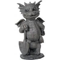Gardeneing Dragon Garden Statue