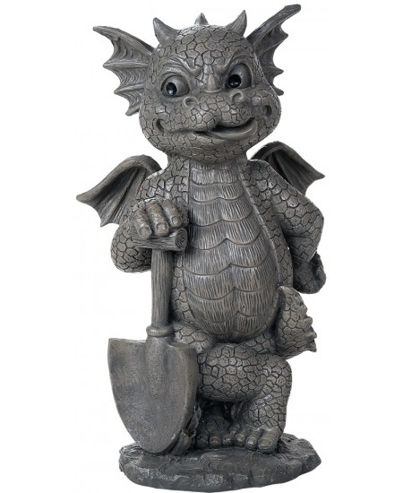 Gardeneing Dragon Garden Statue at Mythic Decor,  Dragon Statues, Angels, Myths & Legend Statues & Home Decor