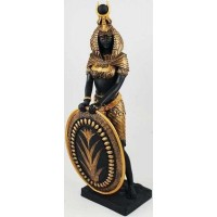 Isis Egyptian Goddess with Shield Statue -11 Inches