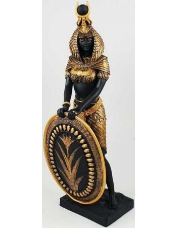 Isis Egyptian Goddess with Shield Statue -11 Inches Mythic Decor  Dragon Statues, Angels, Myths & Legend Statues & Home Decor