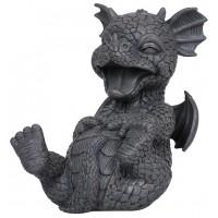 Laughing Dragon Garden Statue