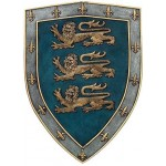 3 Lions Medievel Knights Shield Plaque at Mythic Decor,  Dragon Statues, Angels & Demons, Myths & Legends |Statues & Home Decor