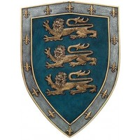 3 Lions Medievel Knights Shield Plaque