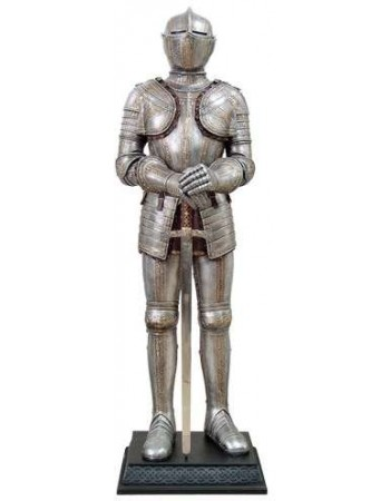 Knight with Sword Lifesize Suit of Armor Statue Mythic Decor  Dragon Statues, Angels, Myths & Legend Statues & Home Decor
