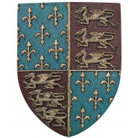 Fleur de Lis and Lions Medievel Knights Shield Plaque