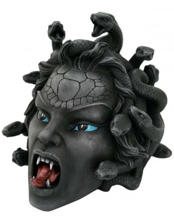 Medusa Head Greek Gorgon Statue Mythic Decor  Dragon Statues, Angels, Myths & Legend Statues & Home Decor