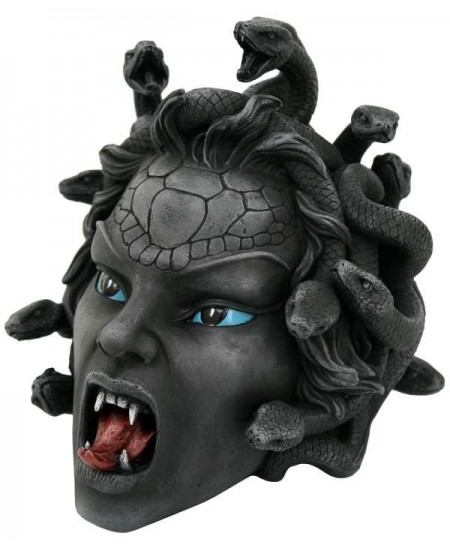 Medusa Head Greek Gorgon Statue at Mythic Decor,  Dragon Statues, Angels, Myths & Legend Statues & Home Decor