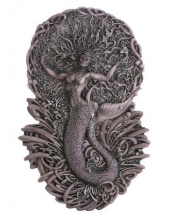 Mermaid Aine Plaque in Gray Mythic Decor  Dragon Statues, Angels, Myths & Legend Statues & Home Decor