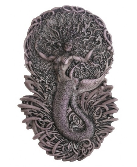 Mermaid Aine Plaque in Gray at Mythic Decor,  Dragon Statues, Angels, Myths & Legend Statues & Home Decor