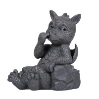 Nose Picker Dragon Garden Statue