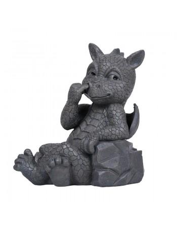 Nose Picker Dragon Garden Statue Mythic Decor  Dragon Statues, Angels, Myths & Legend Statues & Home Decor