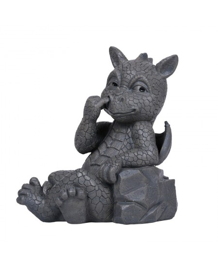 Nose Picker Dragon Garden Statue at Mythic Decor,  Dragon Statues, Angels, Myths & Legend Statues & Home Decor