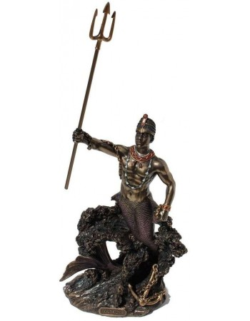 Olokun, African Orisha God Statue Mythic Decor  Dragon Statues, Angels & Demons, Myths & Legends |Statues & Home Decor