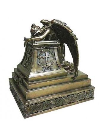 Mourning Angel Bronze Memorial Urn